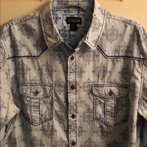 Helix Men's print Long sleeve shirt.